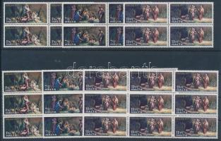 1977 Karácsony 13 sor Mi 559-561 4-es és 9-es tömbökben (1 tömb 1 féle bélyeg)