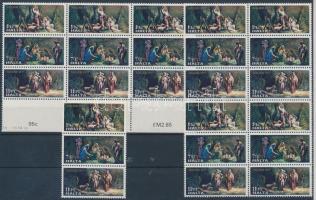 1977 Karácsony 8 sor Mi 559-561 összefüggésekben (1 összefüggés 3 féle bélyeg)