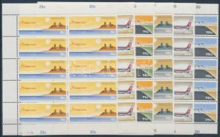 1978 Légiposta bélyegek sor Mi 574-579 tizestömbökben