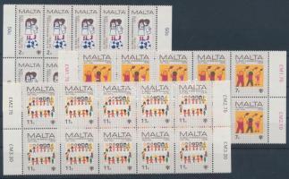 1979 Nemzetközi Gyermekév sor Mi 596-598 tizestömbökben