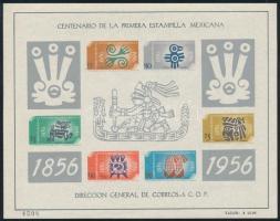 1956 100 éves a bélyegkiadás blokk Mi 1