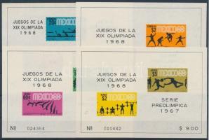 1967 Mexikói nyári olimpia blokksor Mi 7-10