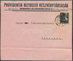 1945 (2. díjszabás) Távolsági levél Kisegítő 3P/50f bérmentesítéssel, hiányzik a hajtóka