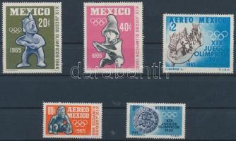 1965 Mexikói nyári olimpia sor Mi 1192-1196