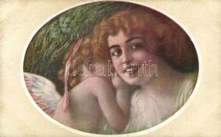 Olasz művészlap, B.K.W.I. No. 698-1, s: Guezzoni, Italian art postcard, B.K.W.I. No. 698-1, s: Guezzoni