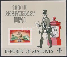 1974 100 éves az UPU vágott blokk Mi 25B