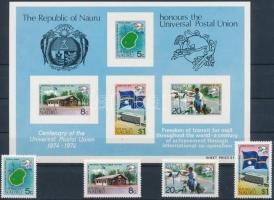 1974 100 éves az UPU sor Mi 111-114 A + blokk 1 + 2 FDC