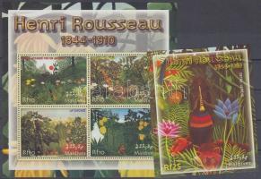 2004 Henri Rousseau festmények kisív Mi 4321-4324 + blokk Mi 566