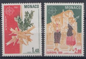 1981 Europa CEPT sor Mi 1473-1474 + blokk 17