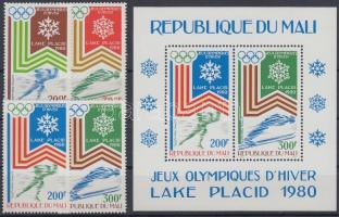 1980 Téli olimpia sor Mi 749-752 + blokk Mi 12