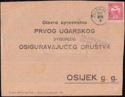 1916 Cenzúrás levél ZUPANJE - Eszékre