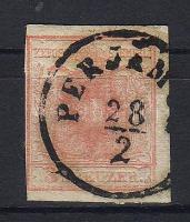 1850 3 kr I b utánvésett tipus PERJAM(OS)