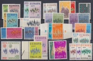 Europa CEPT 18 diff. countries, 36 diff. stamps, Europa CEPT 18 klf ország 36 klf bélyeg