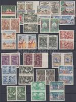 1959 Forgalmi bélyegek: Tunéziai életképek 2x24 vágott érték (21 párban) Mi 516-543 (hiányzik 521, 524, 528, 531) / 2 x 24 imperforate stamps