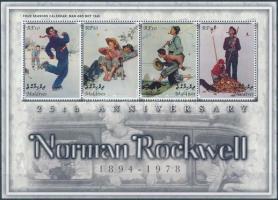 2003 Norman Rockwell festmények kisív Mi 4180-4183