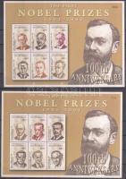 2001 100 éves a Nobel-díj kisívsor Mi 1242-1253