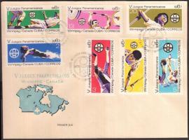 1967 Pánamerikai sportjátékok sor Mi 1308-1314 FDC