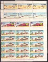 1974 100 éves az UPU sor Mi 110-113 4 db hajtott teljes ív