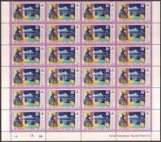 1974 100 éves az UPU sor Mi 589-596 8 db 24-es fél ív