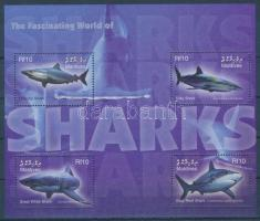 2004 Cápák kisív Mi 4402-4405