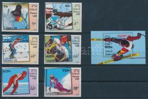 1988 Téli olimpia sor Mi 1060-1065 + blokk Mi 120