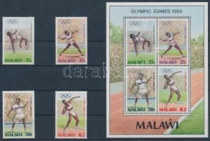 1988 Nyári olimpia sor Mi 497-500 + blokk Mi 68