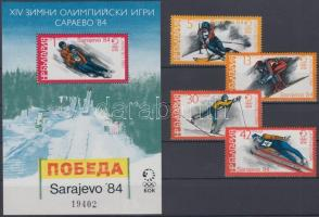 1983 Szarajevói téli olimpia Mi 3201-3204 + blokk 135