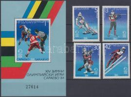 1983 Szarajevói téli olimpia (II.) Mi 3247-3250 + blokk 140
