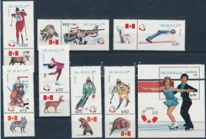 1988 Téli olimpia szelvényes sor Mi 2843-2849 + blokk Mi 176