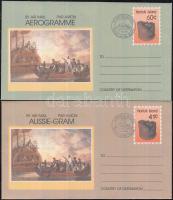 1982-1990 4 db Hajós FDC + 2 db díjjegyes boríték