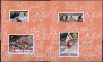 1988 Nyári olimpia sor vágott blokkformában Mi 1049-1052