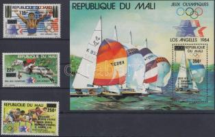 1984 Nyári olimpia érmesei sor Mi 1020-1022 + blokk 25