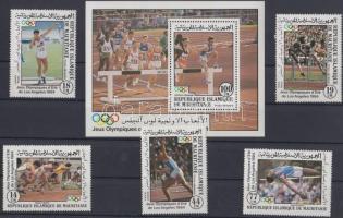 1984 Nyári olimpia, Los Angeles (II.) sor Mi 821-825 + blokk 58