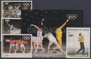 1983 Nyári olimpia, Los Angeles sor Mi 846-849 + blokk 40