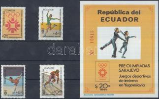 1984 Téli olimpia sor Mi 1961-1964 + blokk Mi 110