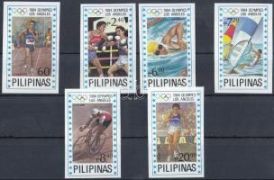 1984 Nyári olimpia vágott sor Mi 1604-1609