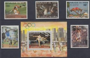 1984 Nyári olimpia, Los Angeles sor Mi 876-880 + blokk 41