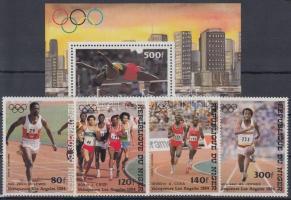 1984 Nyári olimpia érmesei sor Mi 900-903 + blokk 42