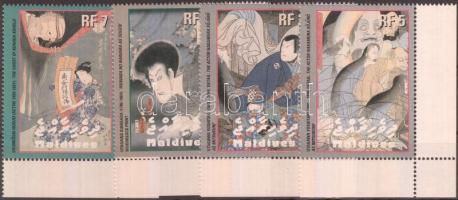 2003 Kísértetek és démonok japán fametszeteken ívsarki sor Mi 4128-4131