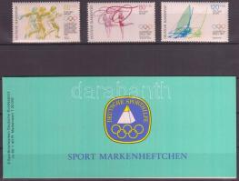 1984 Sportsegély: Olimpia sor + bélyegfüzet Mi 1206-1208