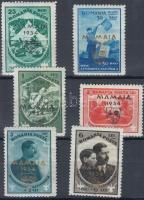 1934 Cserkészet felülnyomott sor Mi 468-473