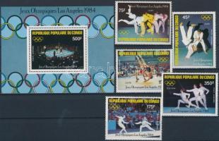 1984 Los Angeles-i olimpia sor Mi 946-950 + blokk 35
