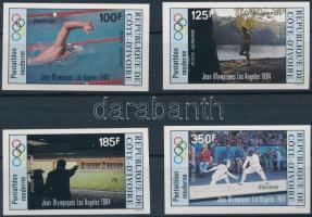 1984 Los Angeles-i olimpia vágott sor Mi 812-816