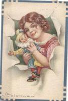 Italian art postcard s: Colombo, Olasz művészeti képeslap s: Colombo