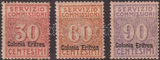 1916 Elszámolási bélyegek Mi 3-4