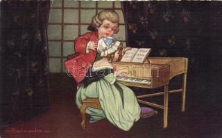 Italian art postcard, Baroque s: Colombo, Olasz művészeti képeslap, barokk s: Colombo