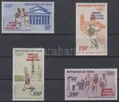 1972 Olimpiai aranyérmesek sor felülnyomással Mi 348-351