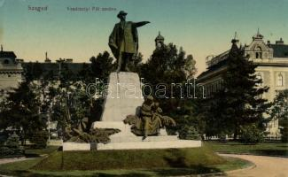 Szeged, Vásárhelyi Pál szobra; Várnay L. kiadása