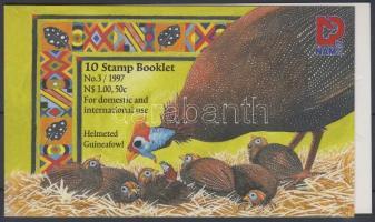 1997 Üdvözlő bélyeg: Gyöngytyúk bélyegfüzet Mi 854-858