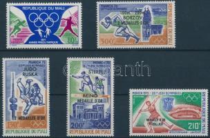 1971-1972 Olimpia érték + sor Mi 284, 361-364